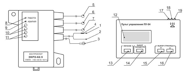 Электронный контроллер расцепителя ЭКР