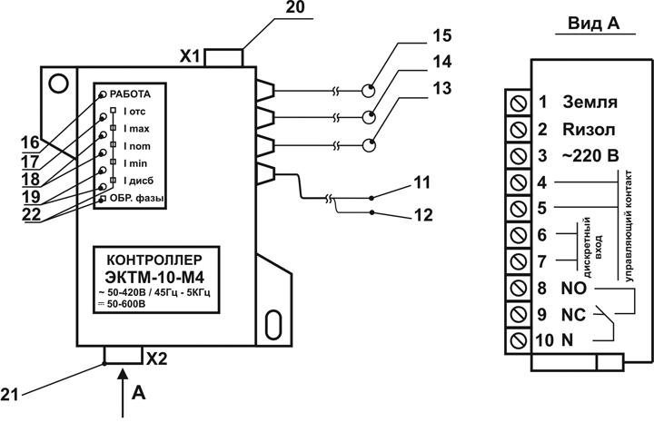 Внешний вид контроллера ЭКТМ, пульта управления ПУ-05